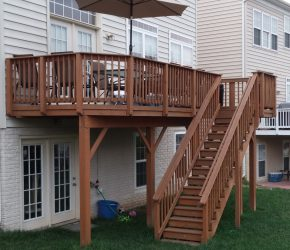 stained wood deck